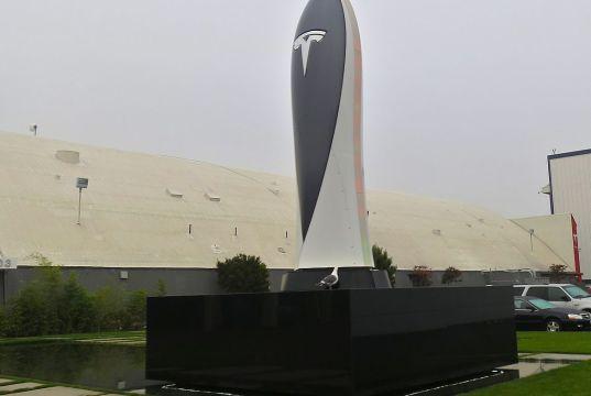 The Tesla Obelisk Marks the Location of a Tesla Supercharger, Free for Tesla Model S Owners for Life