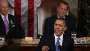 President Barack Obama Addresses Climate Change During 2013 State of the Union Speech