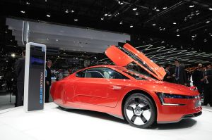 Volkswagen XL1 at the Geneva Motor Show - 261mpg Diesel Plug-In Hybrid Electric Vehicle Prototype