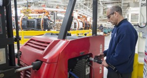 Refueling Hydrogen Parts Carrier at BMW Spartanburg, SC