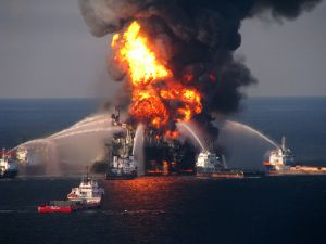 Putting out the Fires on BP's Deepwater Horizon, Where 11 Oil Rig Workers Lost Their Lives