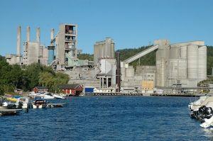 Norcem cement plant in Brevik