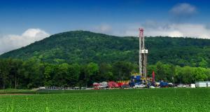 Natural gas rig in Pennsylvania