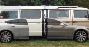 Tesla Model S + Two Volkswagen Vanagon Westfalia = Stretchla