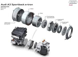 Audi A3 e-tron transmission