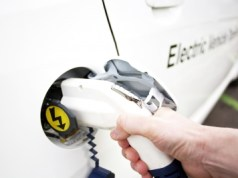Electric Vehicle Plugging In