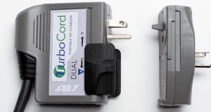 AeroVironment TurboCord Charges Electric 3x Faster on 240 V than Standard Cordset
