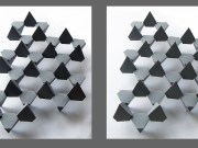 Stereographic Image of Graphene Modeled in Paper - Still Not as Cool as the Real Thing