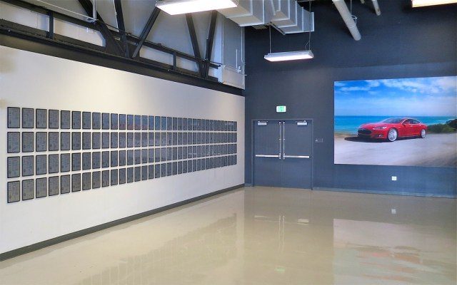 The Tesla Motors Patent Wall, Just Before Being Symbolically Dismantled