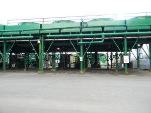 Closeup of Ormat Energy Converters at Puna Geothermal Venture