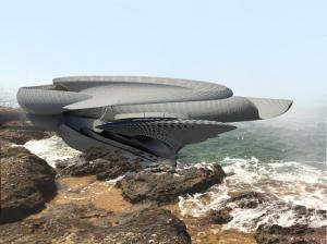 Tide powered house - image from Margot Krasojevics