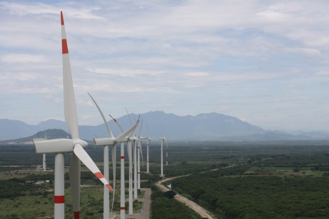 Enel Green Power WInd Turbines in Palo Alto, Mexico, will general clean renewable energy for three of General Motors' facilities in the region.