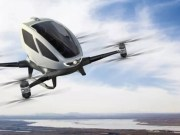 The Ehang 184 electric single person helicopter showed at CES earlier this month.