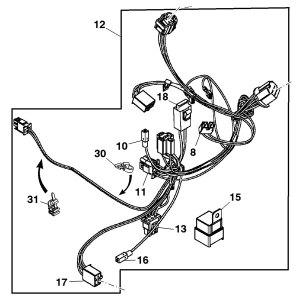 John Deere Front Wiring Harness  GY21702