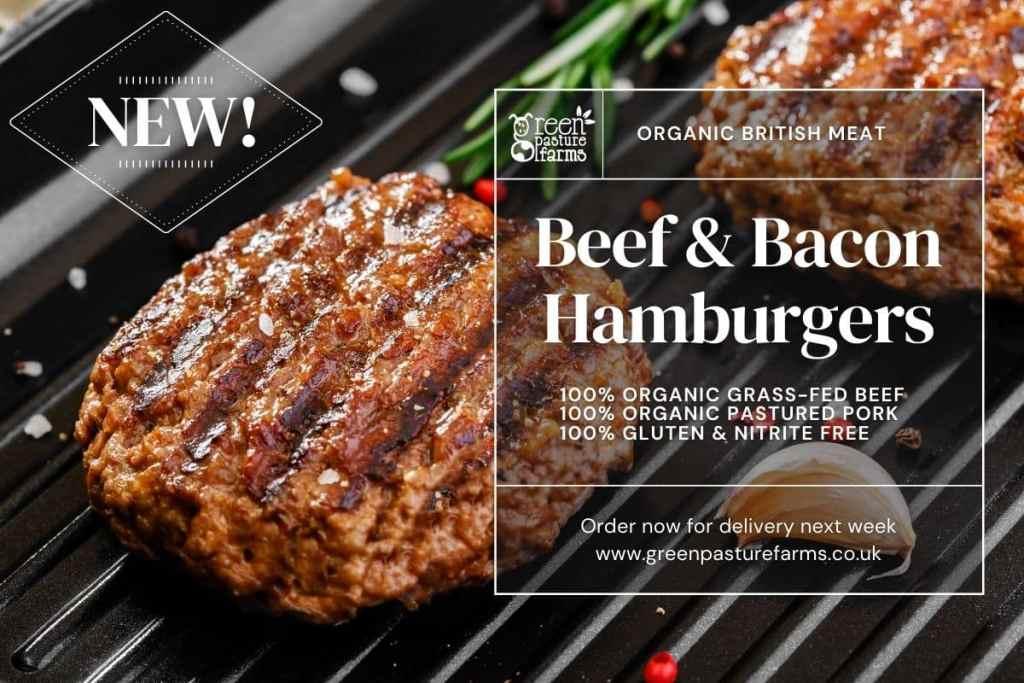 organic beef & bacon hamburgers