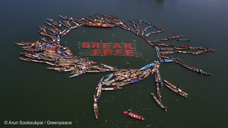 Thai Communities join Global Break Free Activities against Fossil Fuels