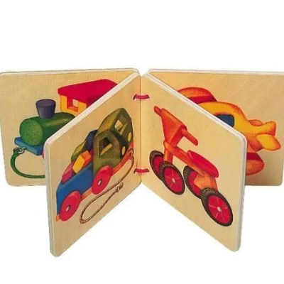 selecta wooden picture book vehicles