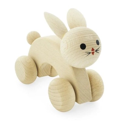Natural wooden rabbit toy