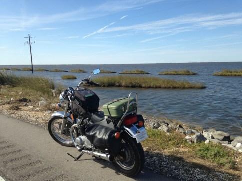 Janna Graham's bike, down on the coast