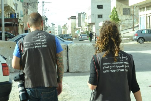 Luke and Chloe, Christian Peacemaker Team, Hebron (David Kattenburg)