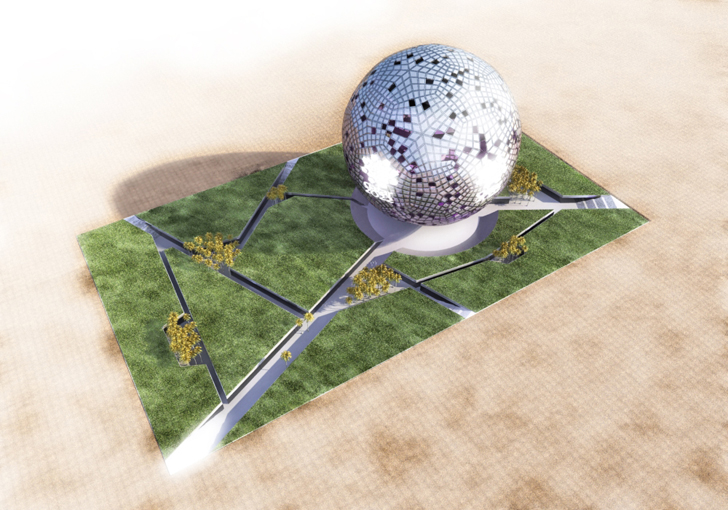 Qatar, crystal ball, FIFA, World Cup, 2022, Museum, Sustainable Development, Design