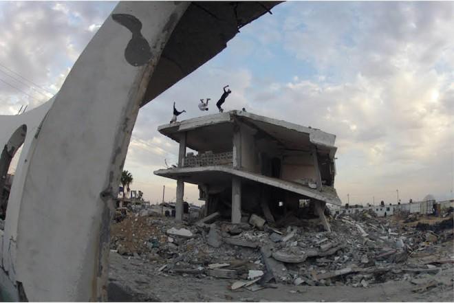 skateboarding in Gaza