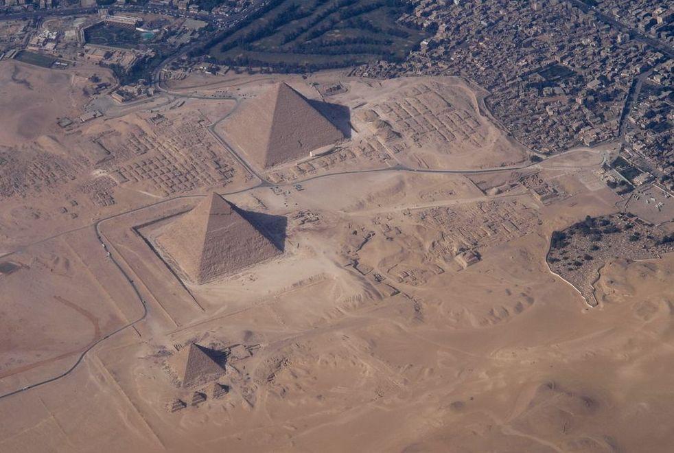aerial Egyptian pyramids
