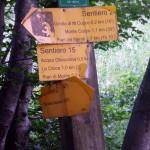 Sentiero 15 - Segnavia in Valrachena