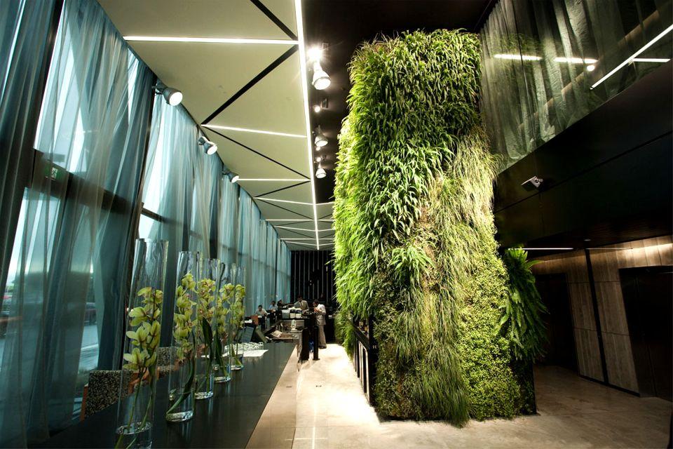 Auckland International Airport Novotel Hotel Green Wall