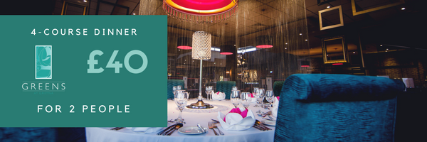 Romantic Meal for 2 at Greens Valentine's Day