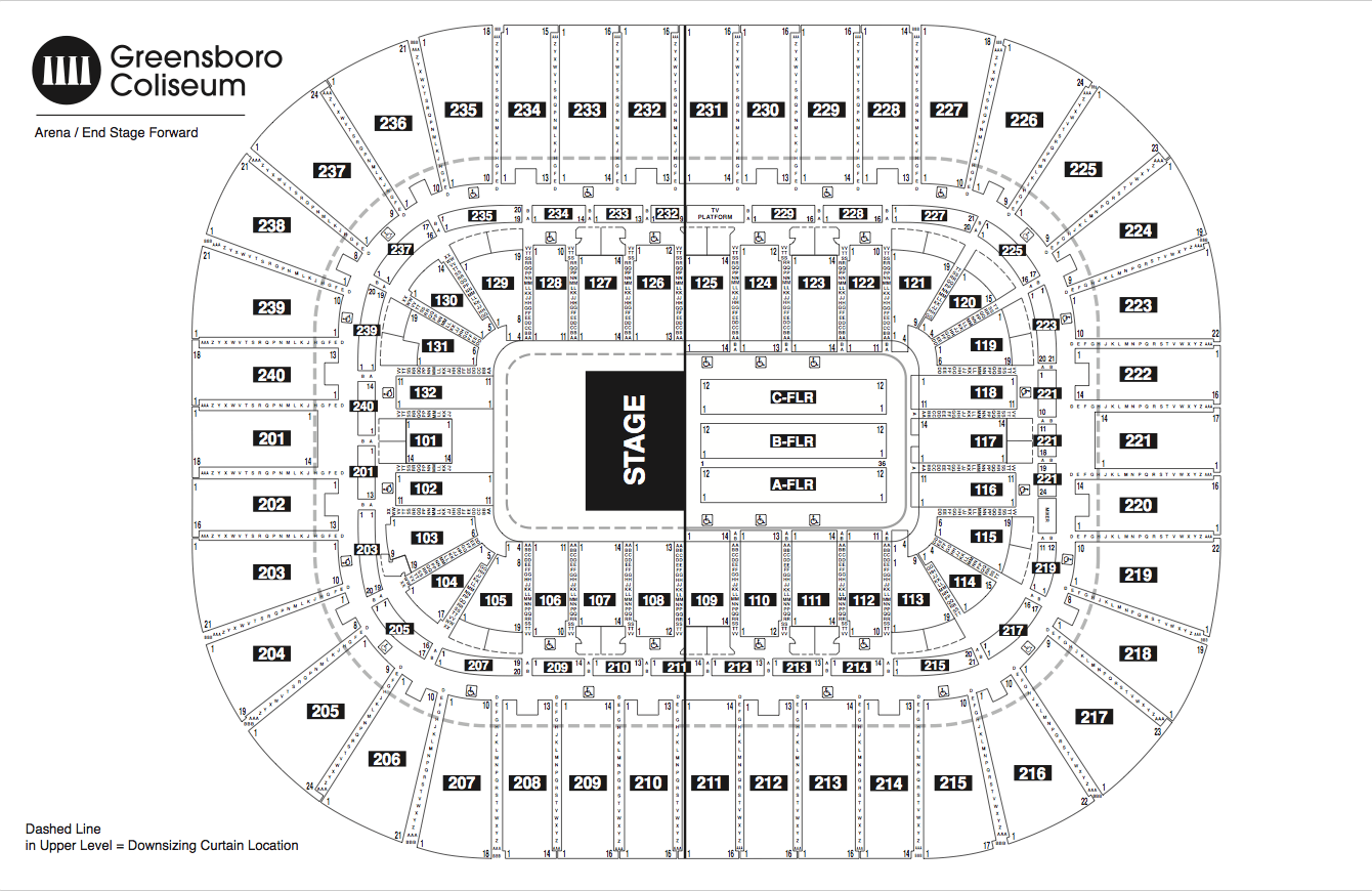 Will Rogers Coliseum Seating Map