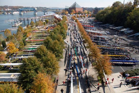 Overhead view of the boat area a the Head of the Hooch in Chattanooga, TN.