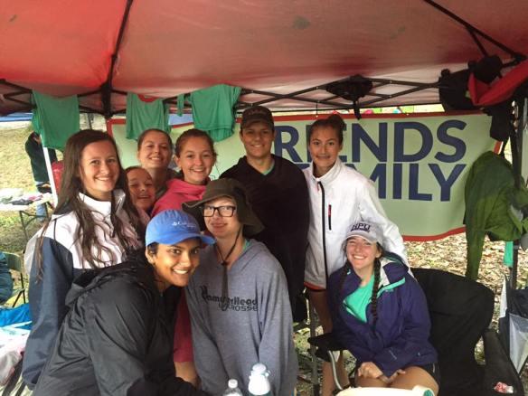 Greensboro rowers escape the rain while in Virginia for the Head of the James regatta.
