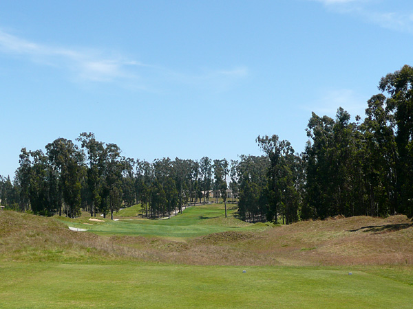 Monarch Dunes Golf Club (Old Course) Nipomo California. Hole 6 view from Tee