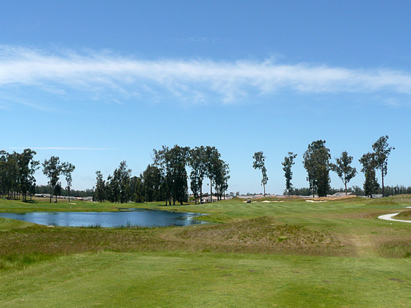 Monarch Dunes Golf Club (Old Course) Nipomo California. Hole 1 view from Tee