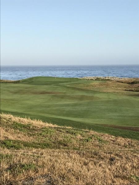 Spanish Bay Golf Links Pebble Beach California Hole 1 Approach