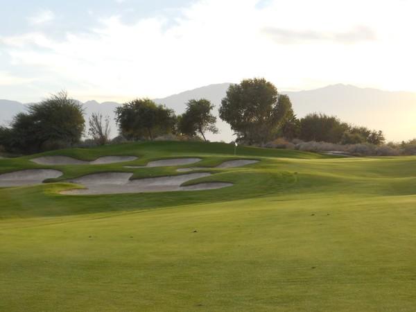 Eagle Falls Golf Course Indio California. Hole 17 Approach