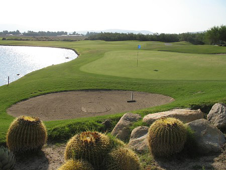 Desert Dunes Golf Club Desert Hot Springs California. Hole 16