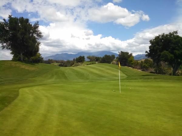 Tijeras Creek Golf Club Rancho Santa Margarita California Hole 11 Green-side