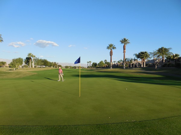 Indian Springs Golf Country Club Indio California. Hole 13 Green-side