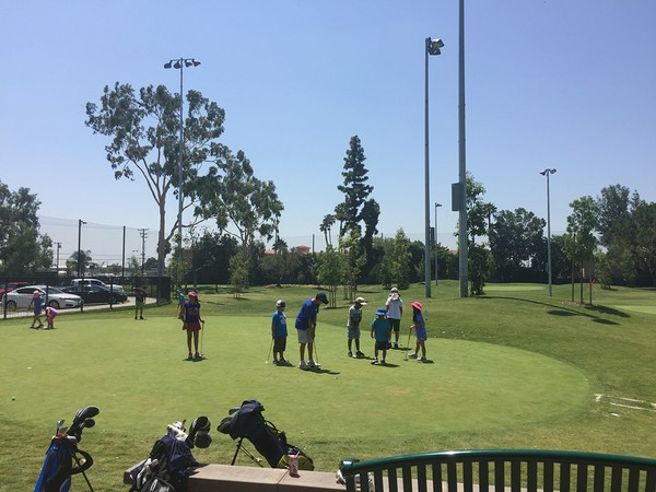 Don Knabe Golf Center & Junior Academy Norwalk California - HUGE practice area beside clubhouse. Another pitch and putt area off to the side for private practice