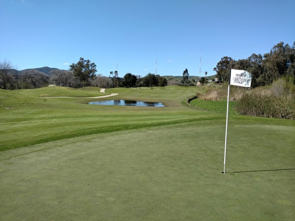 Carlton Oaks Golf Club Santee California. Hole 6 Par 4