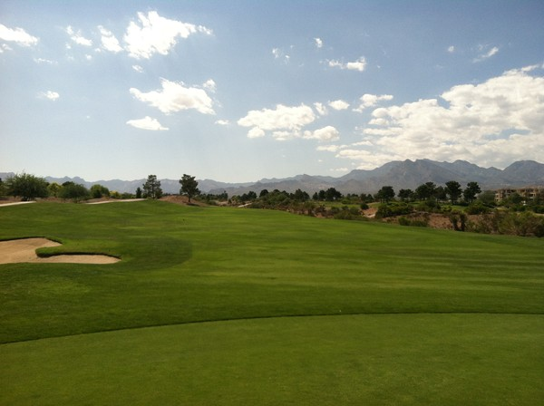 Angel Park Golf Club MOUNTAIN Course Las Vegas Nevada. Hole 17 Green-side