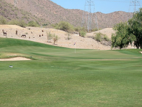 McDowell Mountain Golf Club Scottsdale Arizona. Hole 5 Par 4