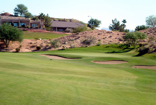Oasis Golf Club Mesquite Nevada. Hole 13 Approach