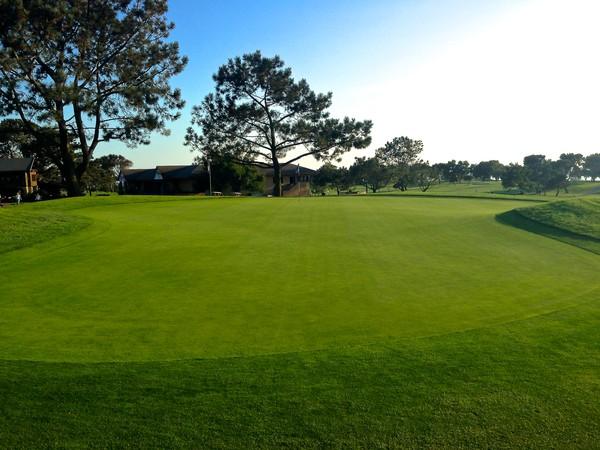 Torrey Pines Golf Course San Diego California Hole 18 Green-side