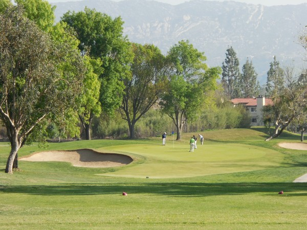 Simi Hills Golf Club Simi Valley California. Hole 8