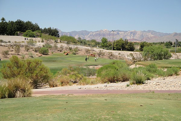 Angel Park Golf Club PALM Las Vegas Nevada. Hole 12
