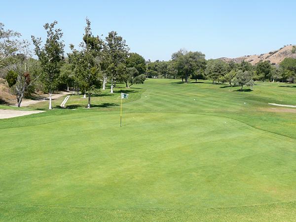 Green River Golf Club Corona, California. Hole 11 Green-side