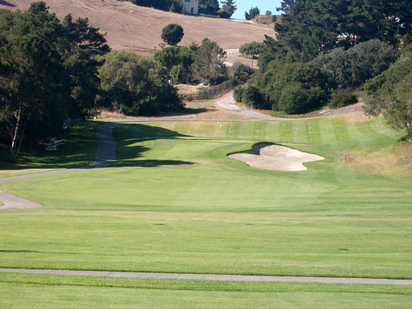 Laguna Seca Golf Club Monterey California Hole 6 Approach